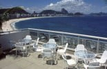 The rooftop pool of the Orla Hotel, Rio de Janeiro