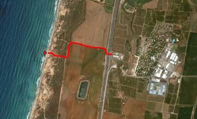 Ga'ash-Nudist-Beach-Tel-Aviv-directions